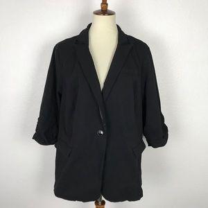 Torrid One Button Front Pockets Stretch Blazer